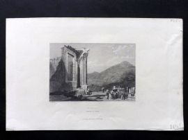 Finden works of Byron C1835 Antique Print. Tivoli, Temple of Vesta, Italy